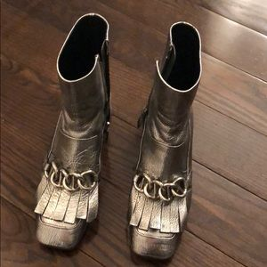 Silver Prada LIMITED EDITION BOOTS